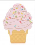 Loulou LOLLIPOP Gryzak silikonowy ICE CREAM PINK
