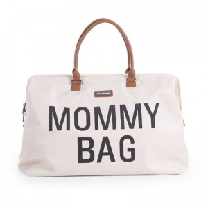 CHILDHOME Torba podróżna MOMMY BAG KREMOWA