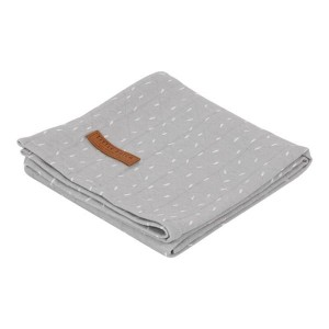 Little Dutch Otulacz 120 x 120 cm Grey Sprinkles