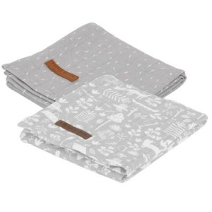 Little Dutch Otulacze 70 x 70 cm Adventure Grey (2 sztuki)